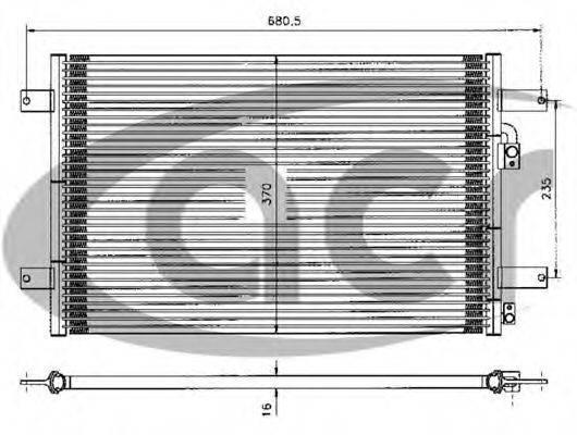 ACR 300083 Конденсатор кондиционера