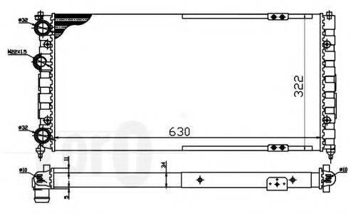 LORO 0530170049 Радиатор охлаждения двигателя