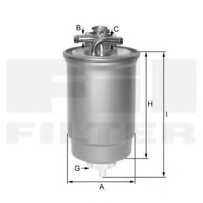 FIL FILTER ZP054F Топливный фильтр