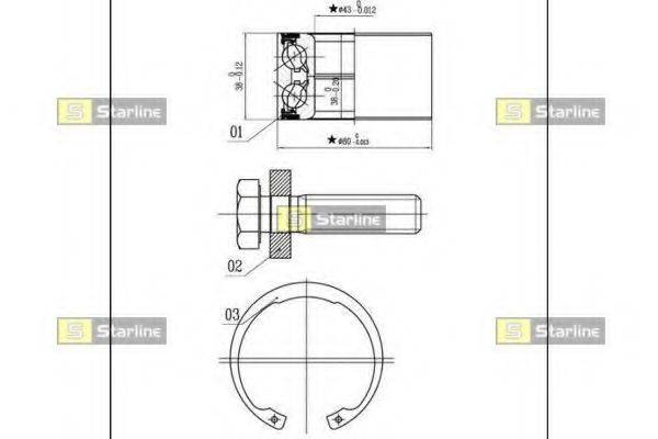 STARLINE LO03449 Подшипник ступицы