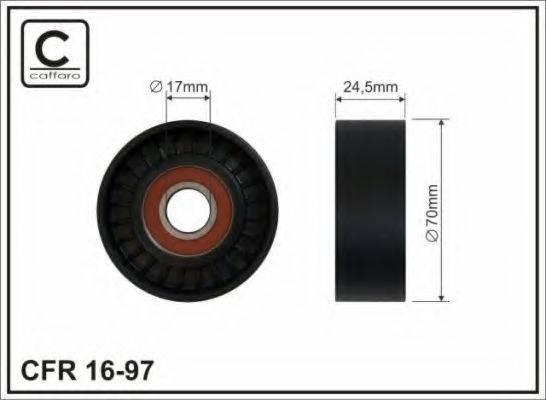 CAFFARO 1697 Натяжной ролик, поликлиновой  ремень