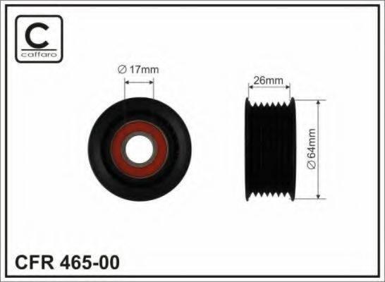 CAFFARO 46500 Натяжной ролик, поликлиновой  ремень