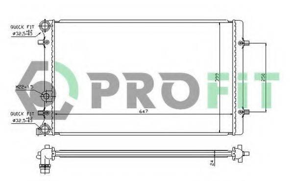 PROFIT PR9523A2 Радиатор охлаждения двигателя