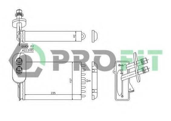 PROFIT PR9523N1 Радиатор печки