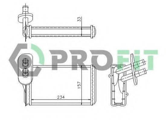 PROFIT PR9537N1 Радиатор печки