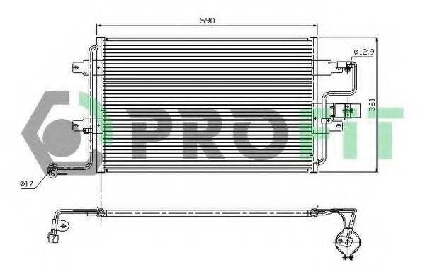 PROFIT PR9545C1 Конденсатор кондиционера