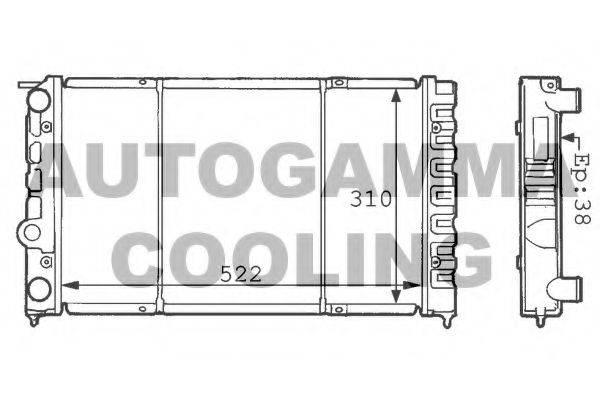 AUTOGAMMA 100959 Радиатор охлаждения двигателя