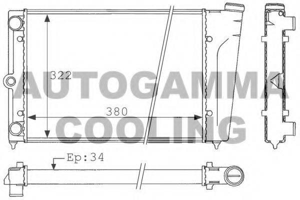 AUTOGAMMA 101039 Радиатор охлаждения двигателя