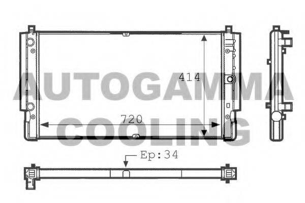 AUTOGAMMA 101083 Радиатор охлаждения двигателя