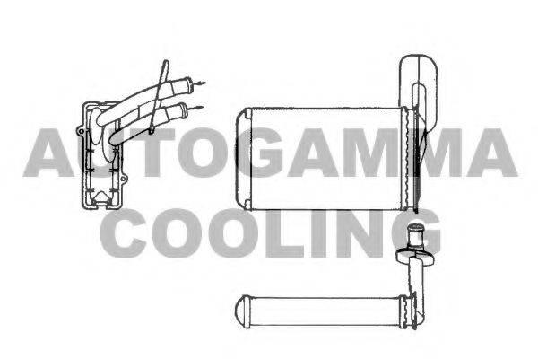 AUTOGAMMA 101775 Радиатор печки