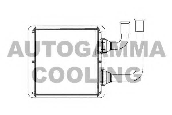 AUTOGAMMA 103722 Радиатор печки