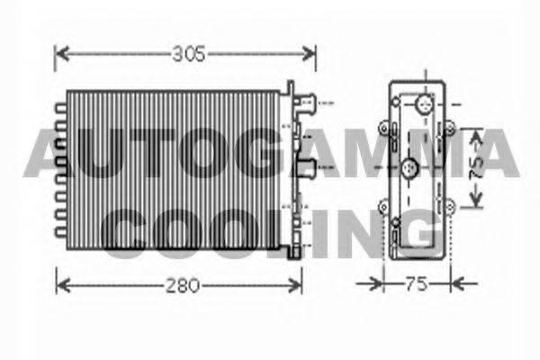 AUTOGAMMA 104429 Радиатор печки