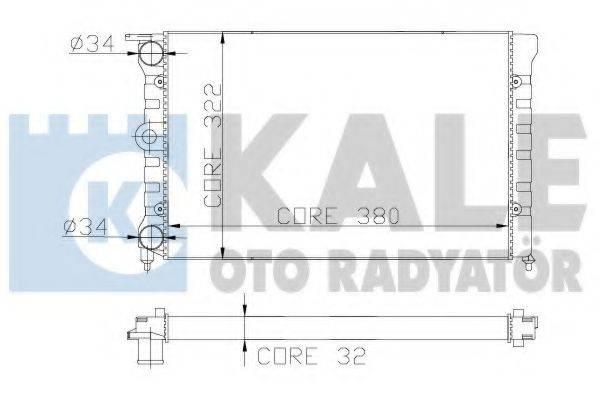 KALE OTO RADYATOR 139400 Радиатор охлаждения двигателя
