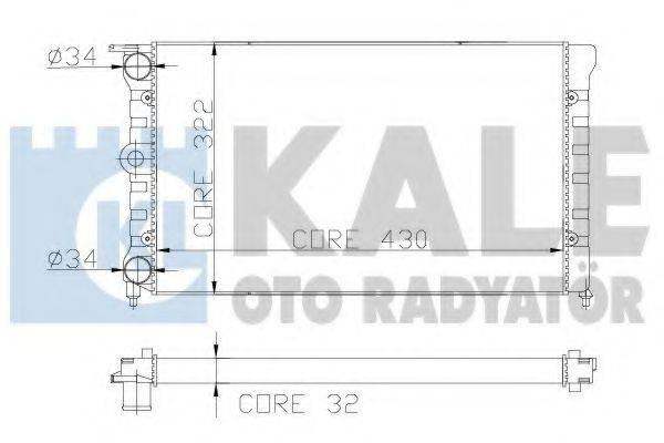 KALE OTO RADYATOR 139500 Радиатор охлаждения двигателя