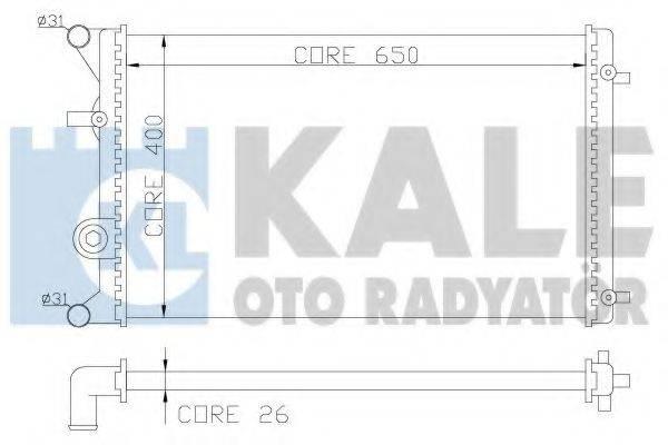 KALE OTO RADYATOR 366400 Радиатор охлаждения двигателя