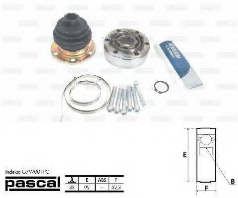 PASCAL G7W001PC ШРУС с пыльником