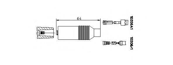 BREMI 102051 Вилка, распределитель зажигания; Вилка, катушка зажигания