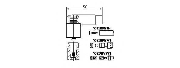 BREMI 10206VW1 Вилка, распределитель зажигания; Вилка, катушка зажигания