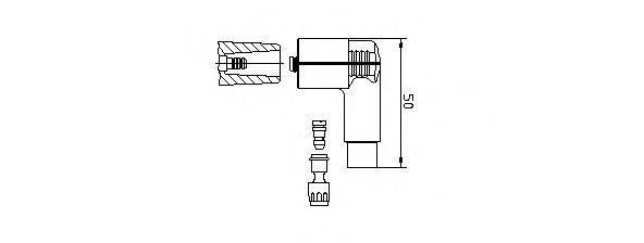 BREMI 13270A1 Вилка, распределитель зажигания; Вилка, катушка зажигания