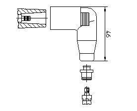 BREMI 13552A1 Вилка, распределитель зажигания; Вилка, катушка зажигания