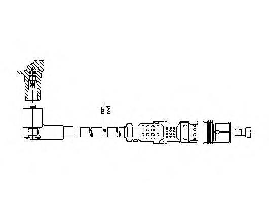 BREMI 1A21E68 Провод зажигания