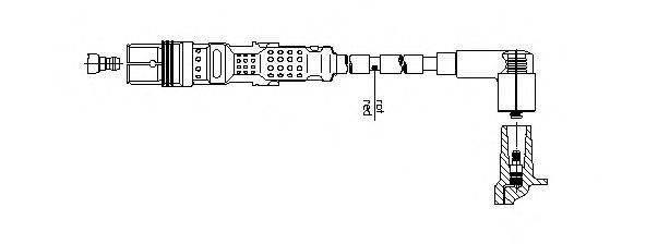 BREMI 1A24F100 Провод зажигания