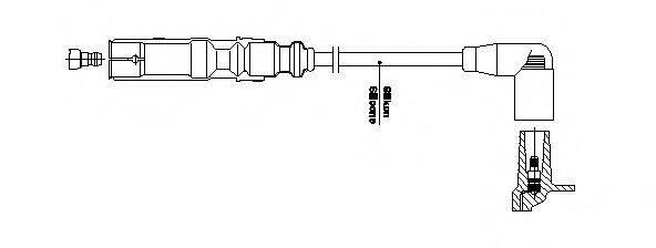 BREMI 1A3227 Провод зажигания