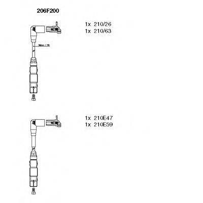 BREMI 206F200 Комплект проводов зажигания
