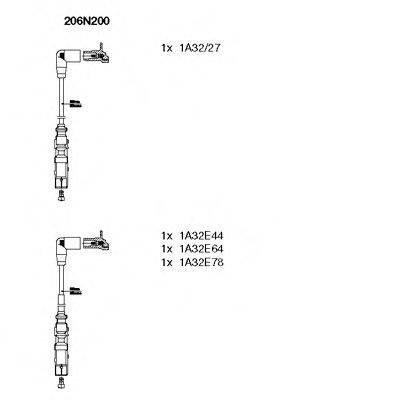 BREMI 206N200 Комплект проводов зажигания