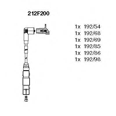 BREMI 212F200 Комплект проводов зажигания