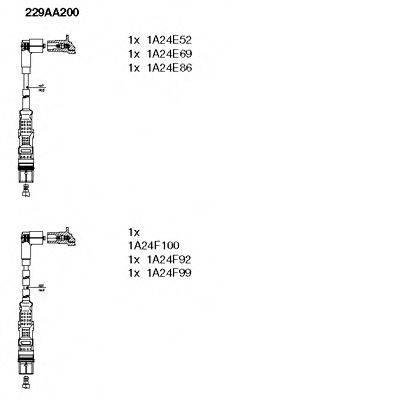 BREMI 229AA200 Комплект проводов зажигания