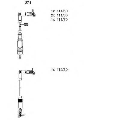 BREMI 271 Комплект проводов зажигания