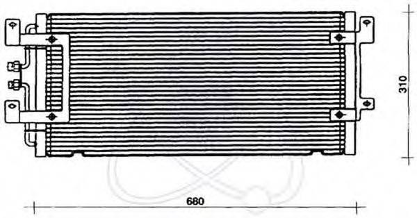 ELECTRO AUTO 30B0048 Конденсатор кондиционера