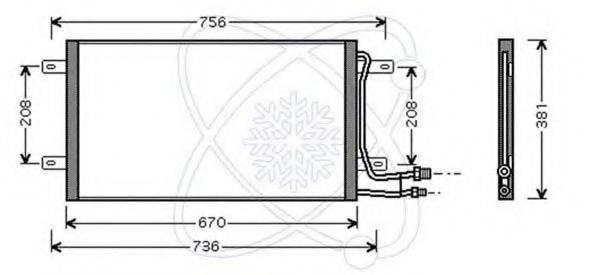 ELECTRO AUTO 30B0054 Конденсатор кондиционера