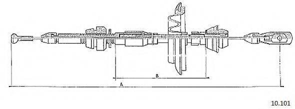 CABOR 10101 Тросик газа