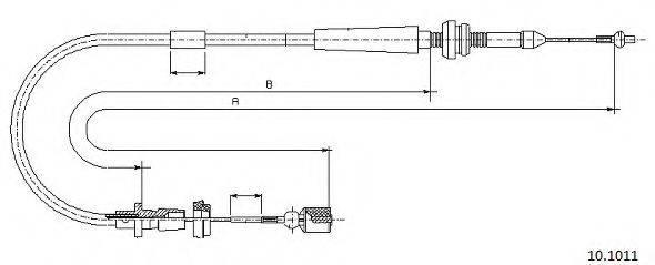 CABOR 101011 Тросик газа