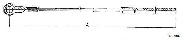 CABOR 10408 Трос, стояночная тормозная система