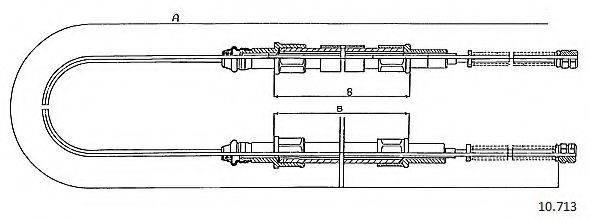 CABOR 10713 Трос, стояночная тормозная система