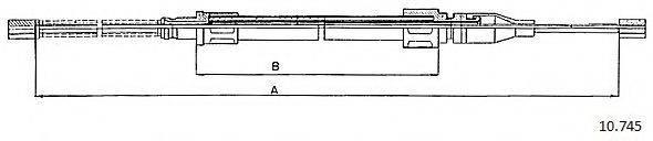 CABOR 10745 Трос, стояночная тормозная система
