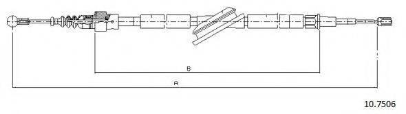 CABOR 107506 Трос, стояночная тормозная система
