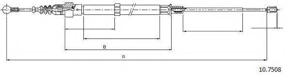 CABOR 107508 Трос, стояночная тормозная система
