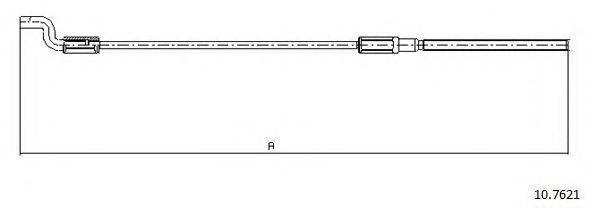 CABOR 107621 Трос, стояночная тормозная система
