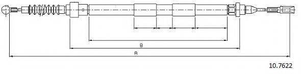 CABOR 107622 Трос, стояночная тормозная система