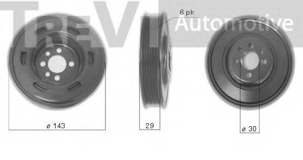 TREVI AUTOMOTIVE PC1077 Ременный шкив, коленчатый вал