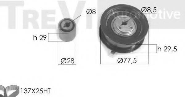 TREVI AUTOMOTIVE KD1206 Комплект ремня ГРМ