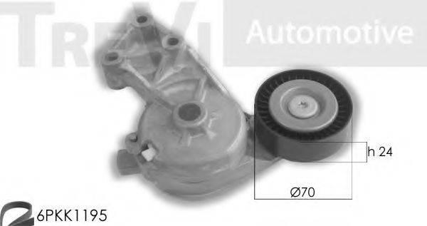 TREVI AUTOMOTIVE KA1078 Поликлиновой ременный комплект