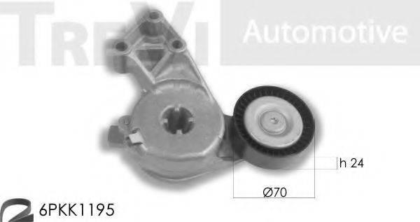 TREVI AUTOMOTIVE KA1080 Поликлиновой ременный комплект
