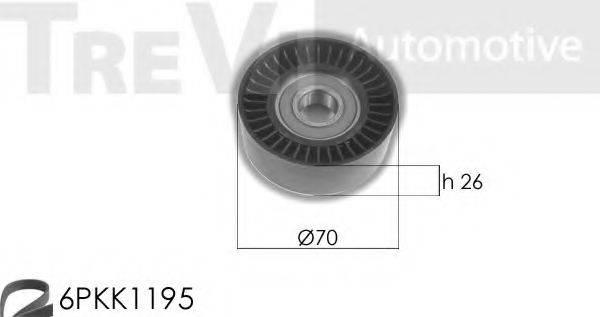 TREVI AUTOMOTIVE KA1080F Комплект роликов, поликлиновой ремень