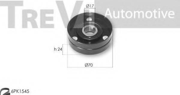 TREVI AUTOMOTIVE KA1151F Комплект роликов, поликлиновой ремень