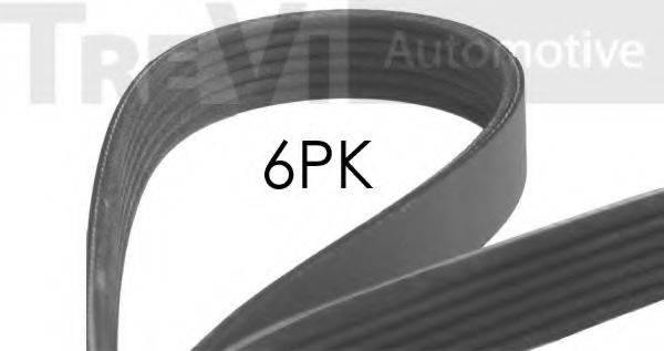 TREVI AUTOMOTIVE 6PK1076 Поликлиновой ремень